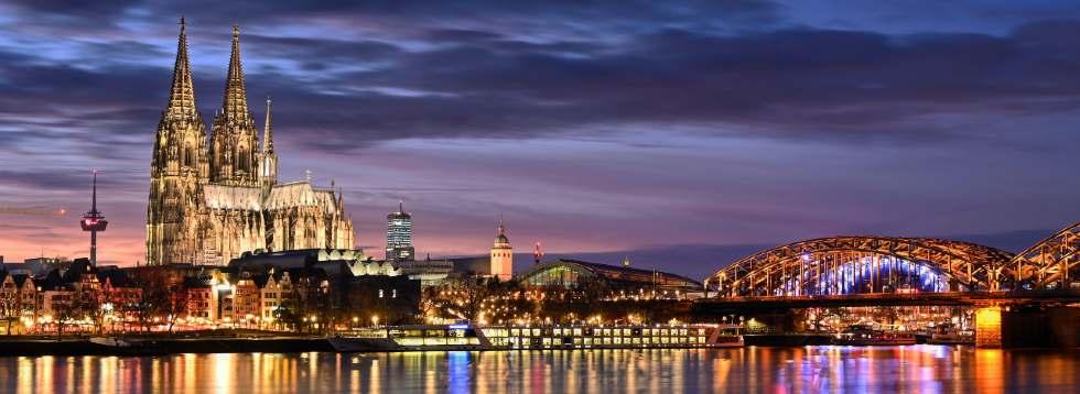 Stadtbild von Köln mit Dom